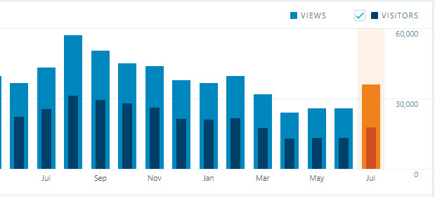 Monthly Traffic on my site