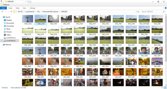 Windows Thumbnails Displaying