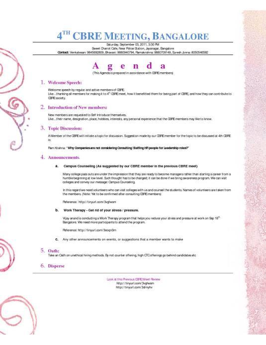 My Agenda Design