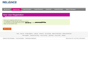 New User Registration - Reliance Netconnect+