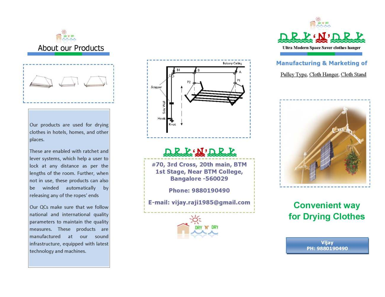 Tri Fold Brochure Front`side