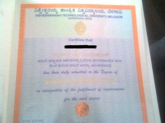11. My degree Certificate