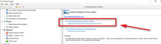 Restore Windows Photo Viewer Winaero Tweaker