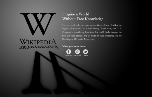 Wikipedia Shuts down its website for 1 whole day
