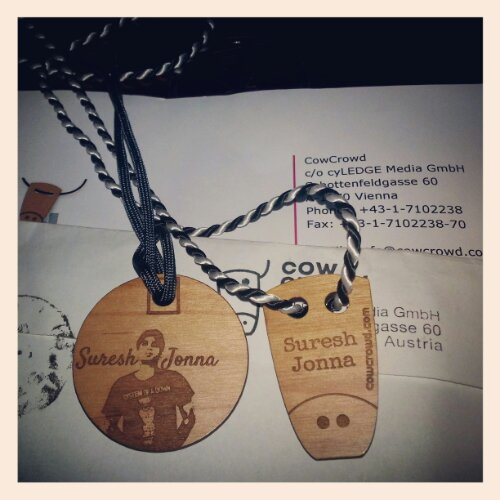 My COwCrowd Tag made in Austria
