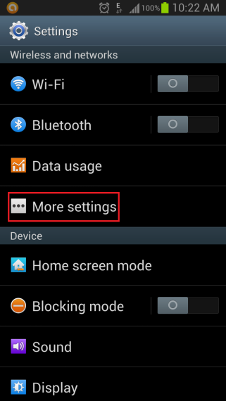 More Settings On Android Phone