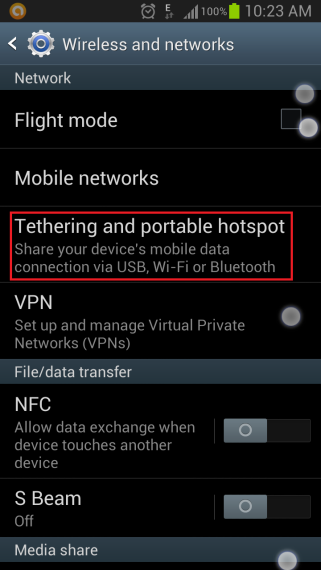 Tethering And Portable Hotspot