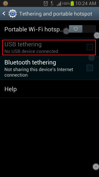 Bluetooth Tethering