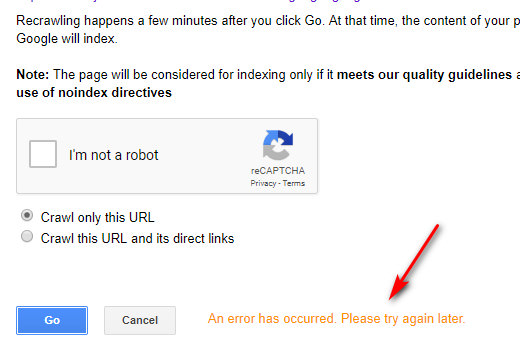 Submit URL To Google Webmaster: Fetch asGoogle