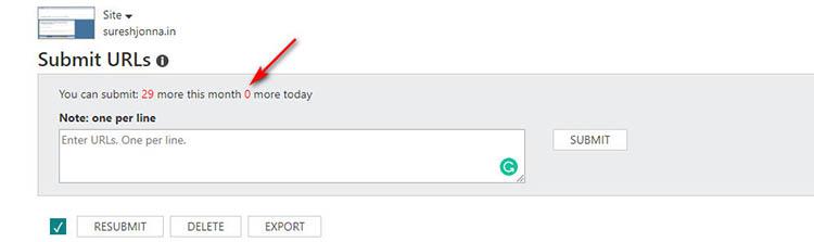 Bing URL Submission Limitation